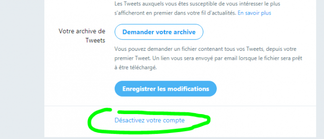 comment supprimer twitter